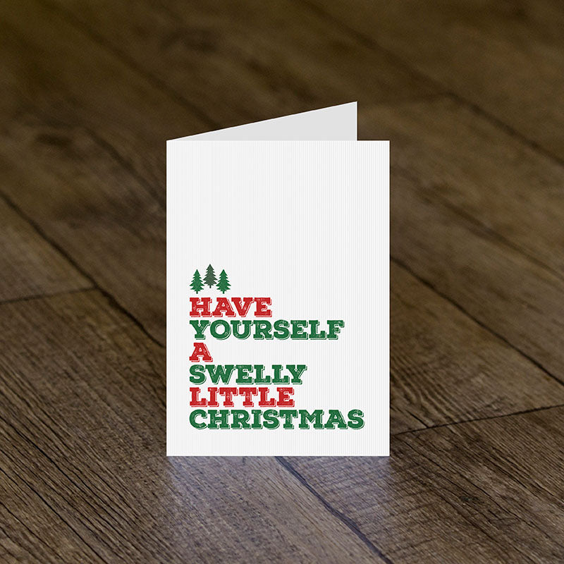 Swelly Christmas Greeting Card