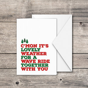 Wave Ride Greeting Card