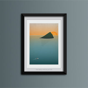 Wembury at Sunset Art Print
