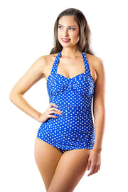 Grace Classic | Royal Blue Polka Dot