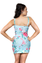 Marilyn Swimdress | Sky Blue Floral