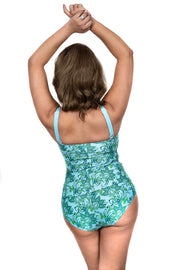 Mindy Tankini Top | Wallpaper Green