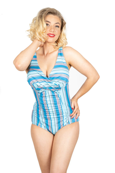 Brigitte Swimsuit | Vintage Stripes (Plus Bust)