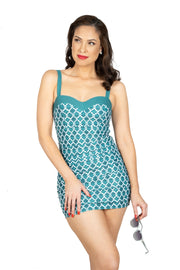 Marilyn Swimdress | Forest Tile