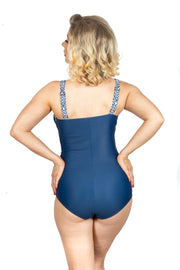 Vivien Swimsuit | Navy Blue (Plus Bust)