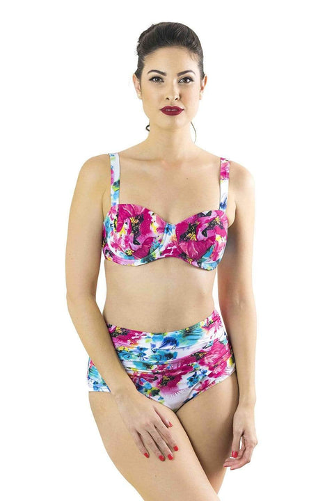Sirens Swimwear Eloise Bikini Bottom | Seaside Rose S17-Eloi-ROS-B08