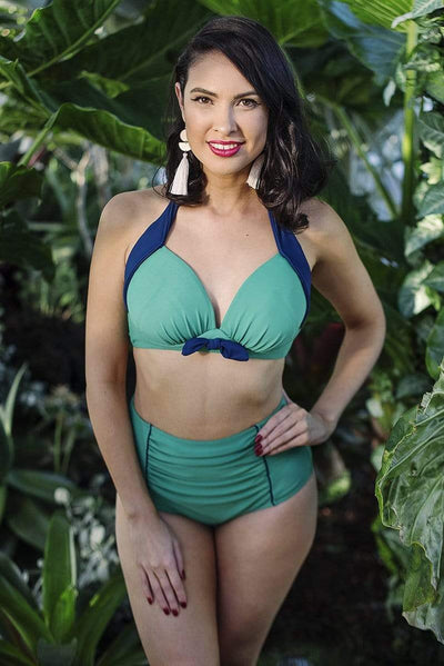 Sirens Swimwear Eve Bikini Top | Pepper Green S18-Eve-GRN-T08