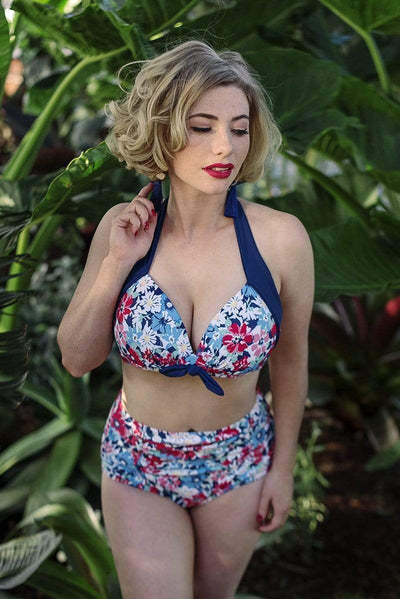 Sirens Swimwear Eve Bikini Top | Strawberry Bloom S18-Eve-SFL-T08