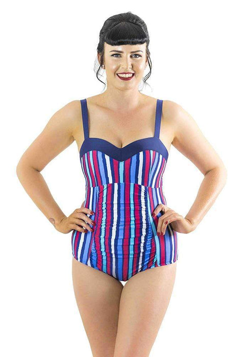 Sirens Swimwear Lizzie Swimsuit | Deck Chair Stripe S17-Lizz-DCS-08