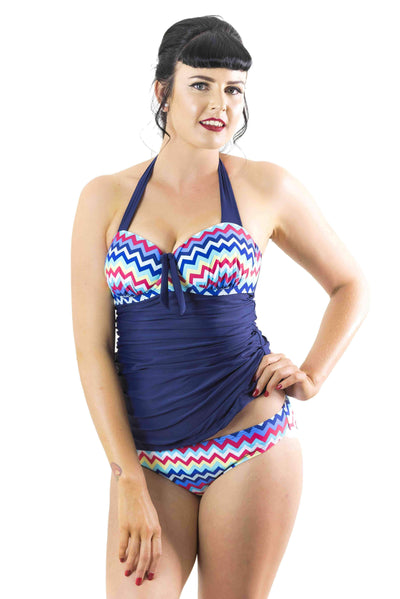 Sirens Swimwear Tracey Tankini Bottom | Chevron Sunset S17-Trac-SUN-B08