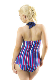 Sirens Swimwear Tracey Tankini Top | Deck Chair Stripe S17-Trac-DCS-T08
