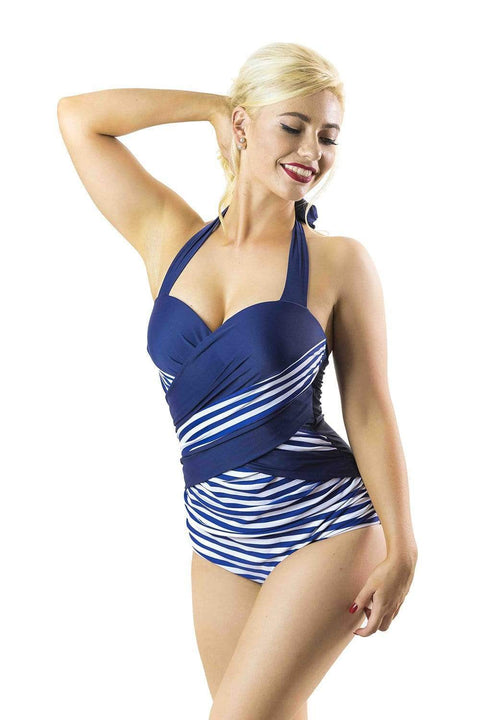 Sirens Swimwear Wynn Wrap | Sailing Stripe & Navy Sea S17-Wynn-SAI-08
