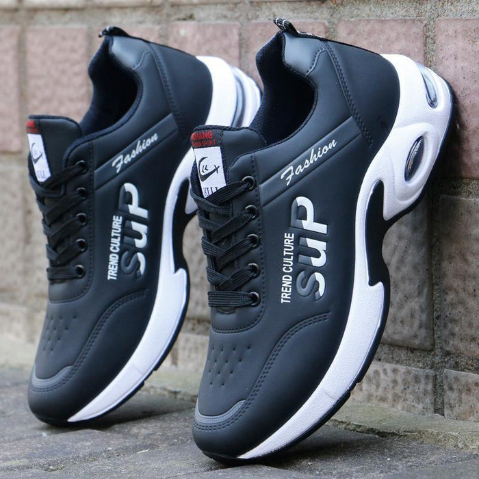 【Free shipping & COD】Men Leather Air Cushion Casual Shoes Non-slip