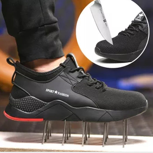 Men Sneaker Anti-smashing Puncture Safety Shoes
