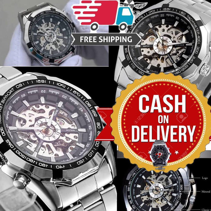 LUXURY SILVER / GOLD MECHANICAL AUTOMATIC WATCH