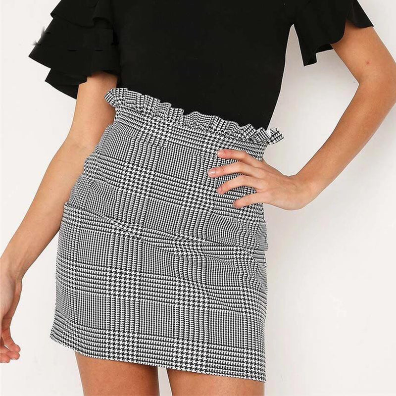 Wild About You Grey Plaid Skirt