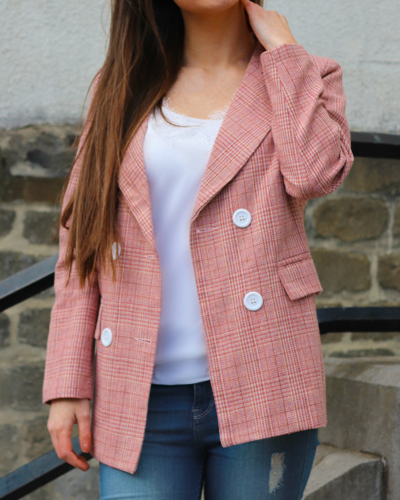 Love You More Pink Blazer