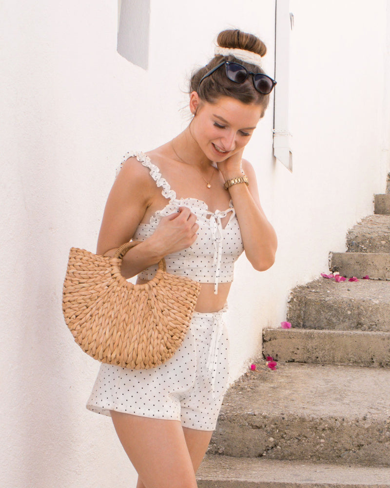 Sunset Stories Straw Bag