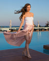 Mythical Kind Of Love Pink Maxi Skirt With Split