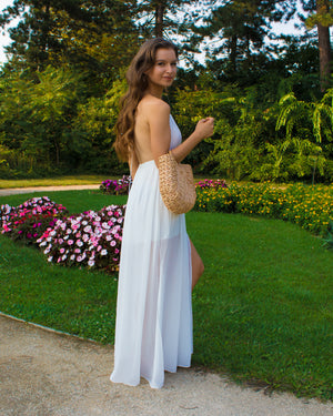 Ocean Of Elegance Maxi Dress With Split