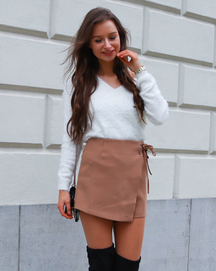 Always Thankful  Beige Skirt