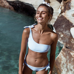 Everyday Vacay Blue Striped Bikini