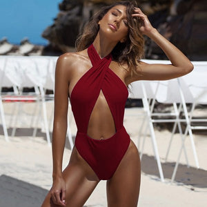 Get It Right Halter Swimsuit
