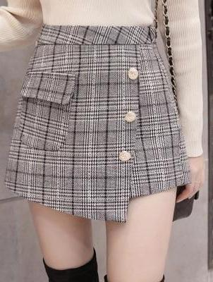 Plaid To Be Here Skirt/Shorts