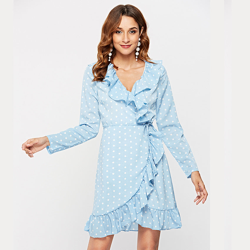 Dreaming Of You Polka Dot Dress With Ruffles