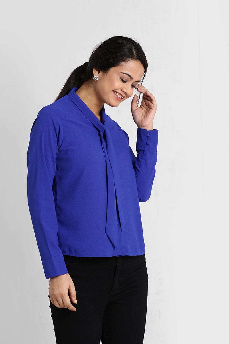 Electric Blue Knot Shirt