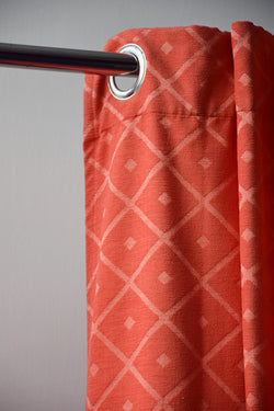 Preowned - Coral Diamond Curtains
