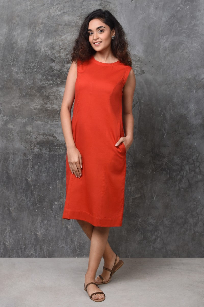 Classic Red Shift Dress