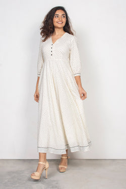 Polka Button Down Maxi