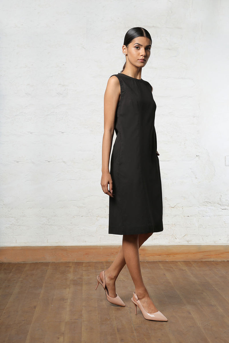 Classic Black Shift Dress