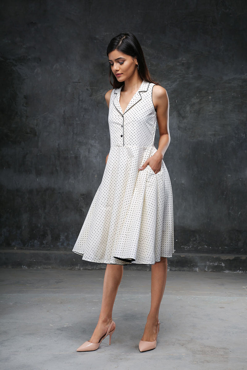 Ivory Polka Twirl Dress
