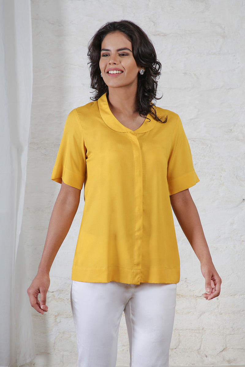 Yellow Half Sleeves Shirt