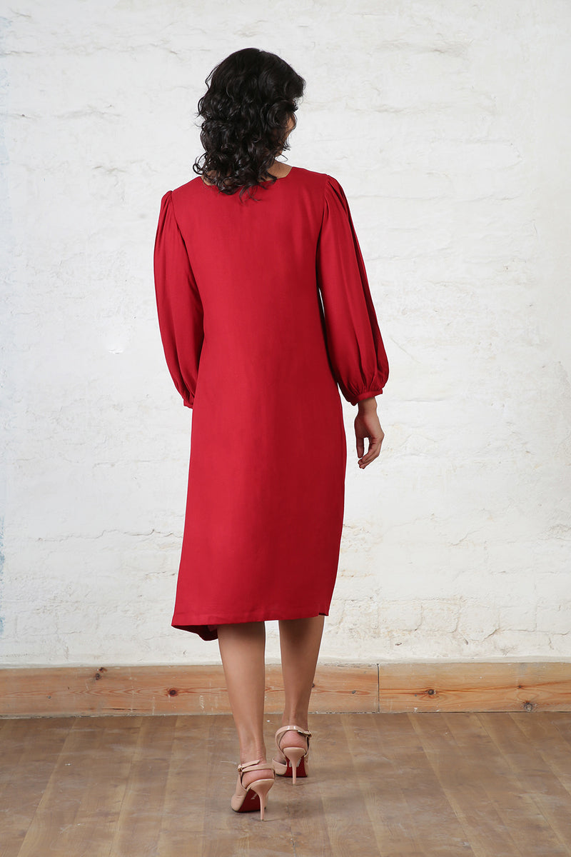 Solid Red Midi