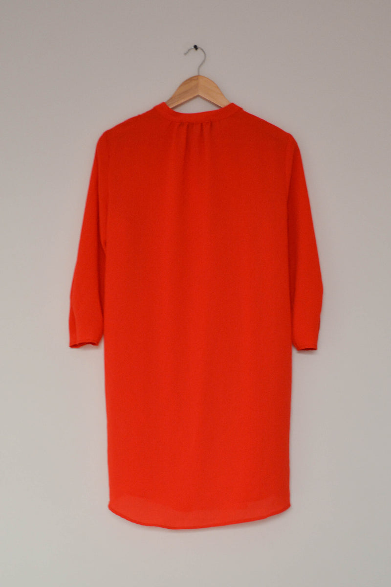 Preowned - Bright Orange Boxy Dress