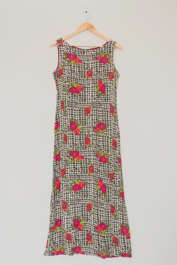 Preowned - Floral Print Maxi Dress
