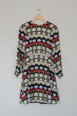 Preowned - Geometric Print Dress