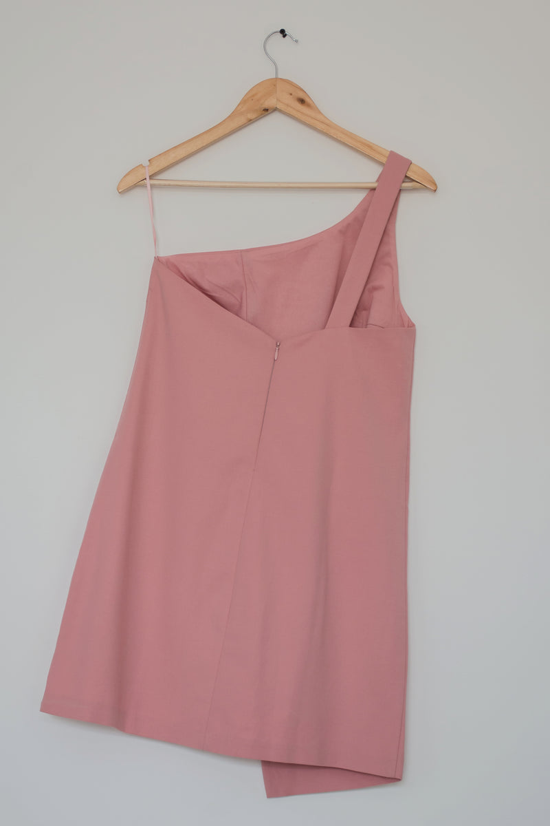 Preowned - Pink One off-shoulder Asymmetrical Dress