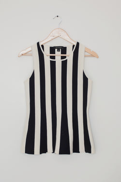 Preowned - Vertical stripes knit top