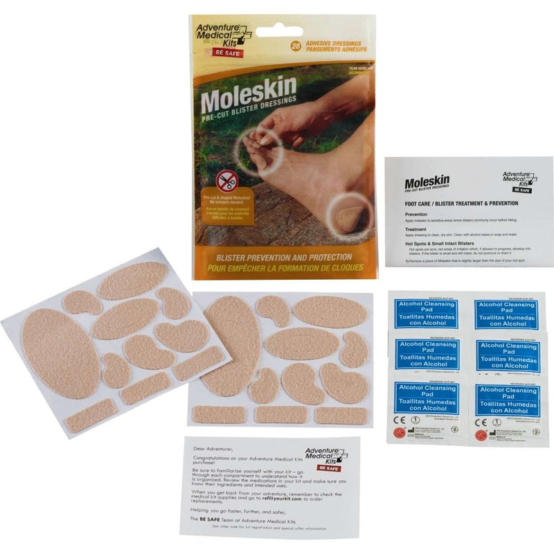 Adventure Medical Kits Moleskin Pre-Cut Blister Dressings,EQUIPMENTPREVENTIONFIRST AID,ADVENTURE MEDICAL KITS,Gear Up For Outdoors,