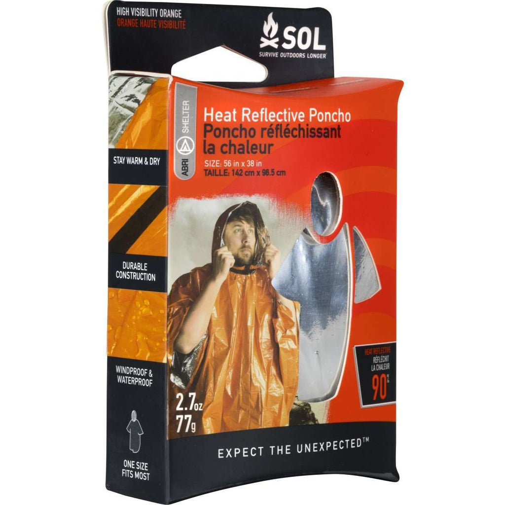 Adventure Medical Kits SOL Heat Reflective Poncho,EQUIPMENTPREVENTIONFIRST AID,ADVENTURE MEDICAL KITS,Gear Up For Outdoors,