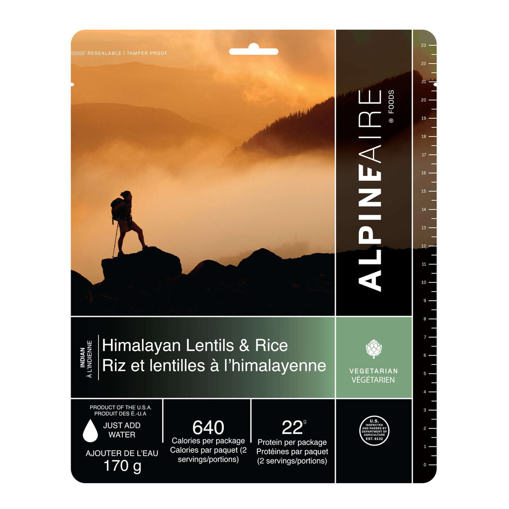 AlpineAire Himalayan Lentils & Rice Vegetarian New Packaging,EQUIPMENTCOOKINGFOOD,ALPINEAIRE FOOD,Gear Up For Outdoors,