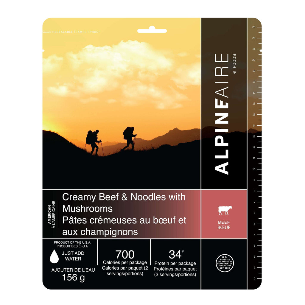 AlpineAire New Creamy Beef Noodle with Mushrooms New Packaging,EQUIPMENTCOOKINGFOOD,ALPINEAIRE FOOD,Gear Up For Outdoors,