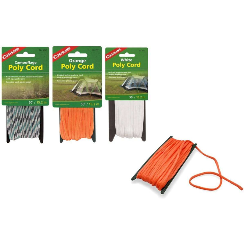 Coghlan's Braided Polypro 6mm Cord 3 Colors,EQUIPMENTMAINTAINCORD WBBNG,COGHLANS,Gear Up For Outdoors,