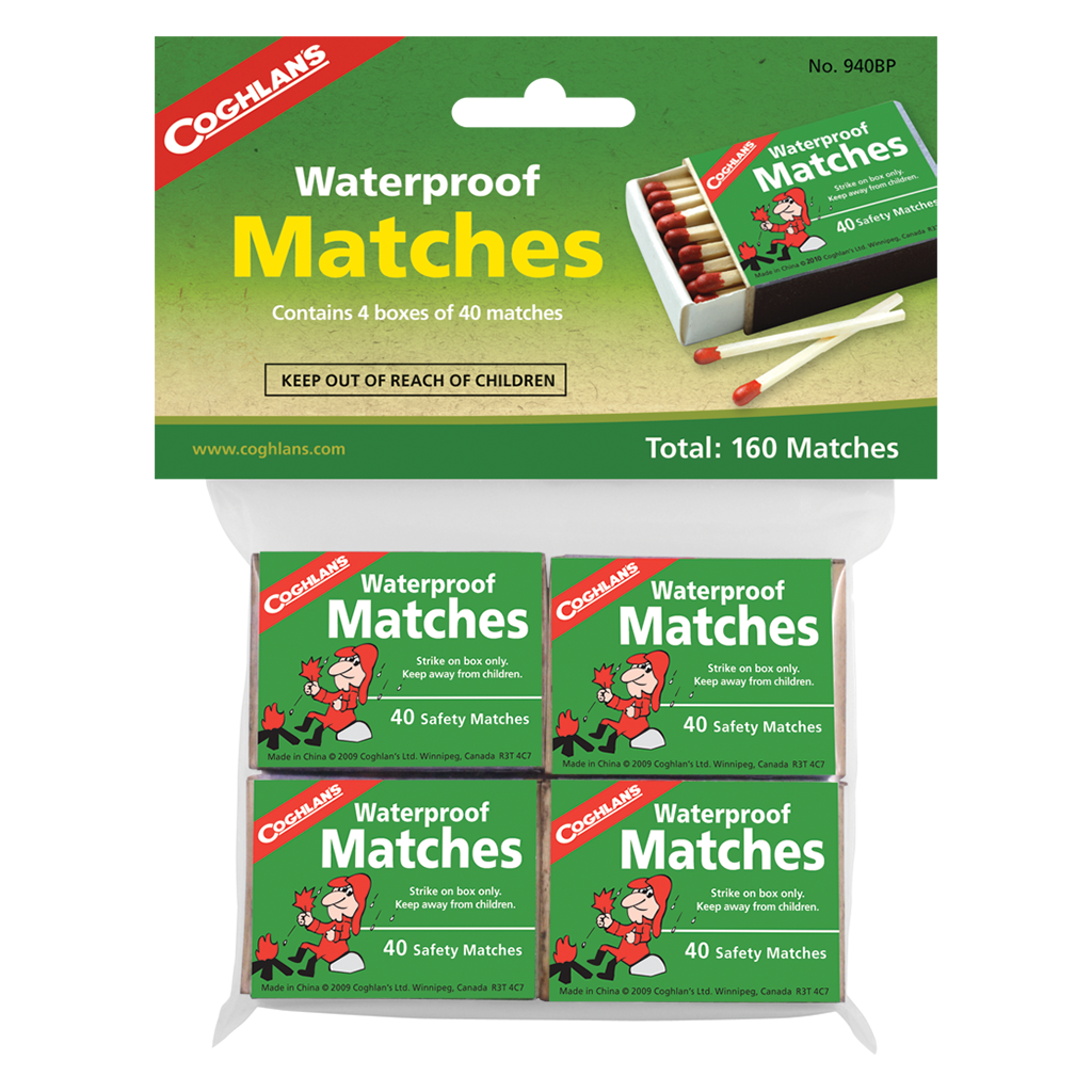 Coghlan's Waterproof Matches - 4 Pack,EQUIPMENTLIGHTFIRE,COGHLANS,Gear Up For Outdoors,