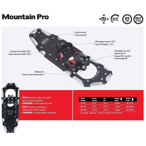 Faber Mountain Pro Snowshoe [Max 300Lbs] 3 Styles,EQUIPMENTSNOWSHOESTECHNICAL,FABER,Gear Up For Outdoors,