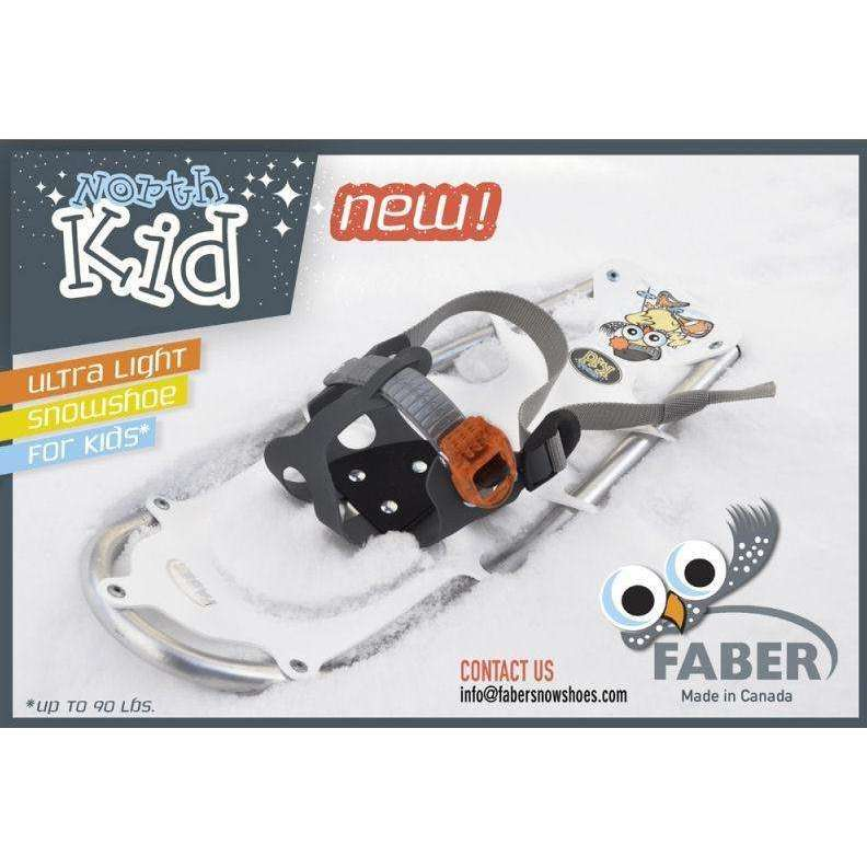 Faber North Kid Snowshoe [Max 90-125Lbs] 2 Styles,EQUIPMENTSNOWSHOESTECHNICAL,FABER,Gear Up For Outdoors,